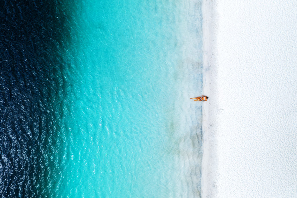 Lone girl on beach