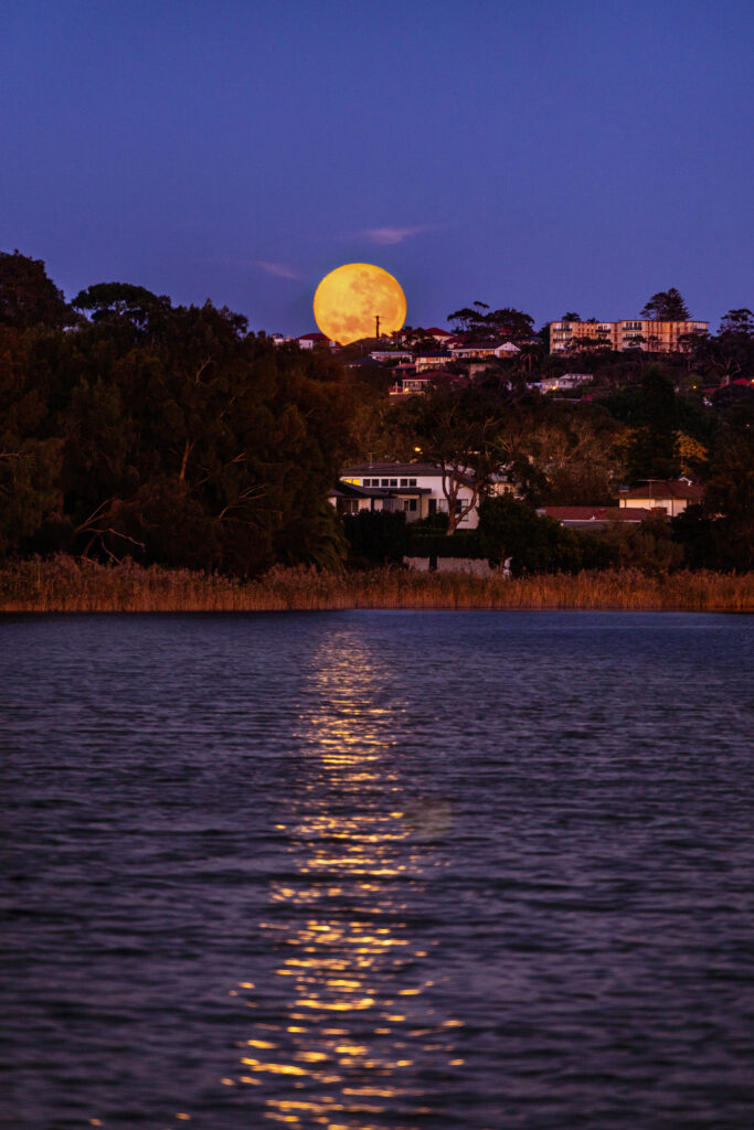 Moonrise over Sydney Northern Beaches